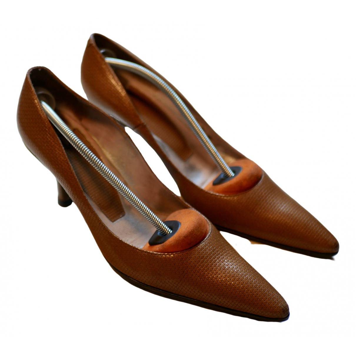 Free Lance \N Camel Leather Heels for Women 38.5 EU