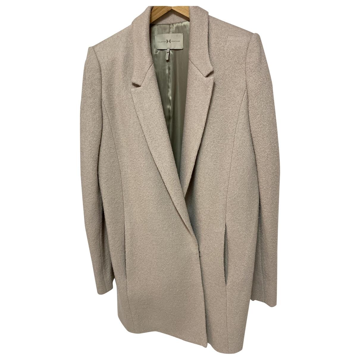 Halston Heritage - Manteau   pour femme en laine - beige