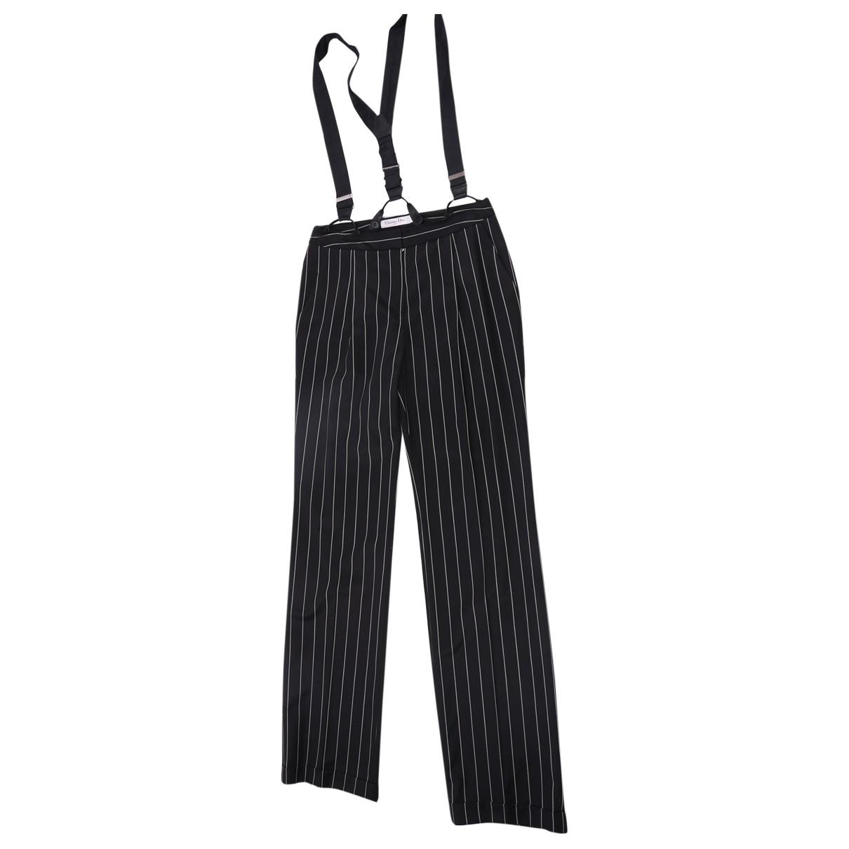 Dior \N Black Wool Trousers for Women 40 FR