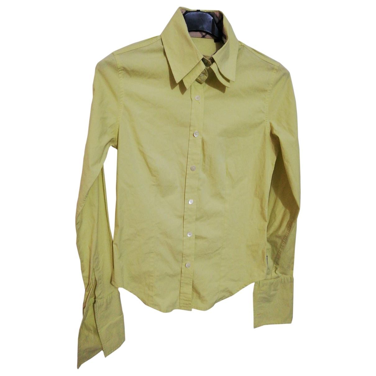 Burberry \N Top in  Gelb Baumwolle