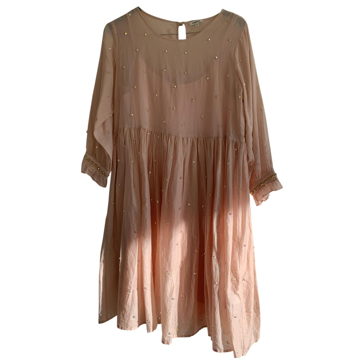 Manoush - Robe   pour femme en coton - rose
