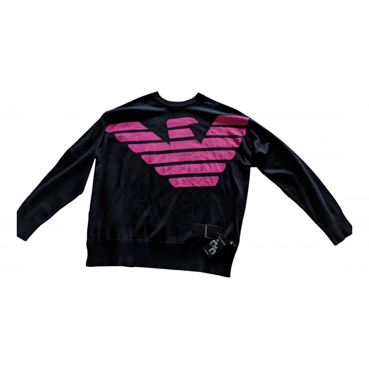 Emporio Armani \N Pullover.Westen.Sweatshirts  in  Schwarz Baumwolle