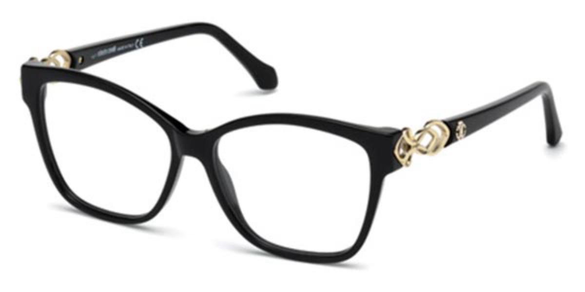 Roberto Cavalli RC 5063 001 Women's Glasses Black Size 53 - Free Lenses - HSA/FSA Insurance - Blue Light Block Available