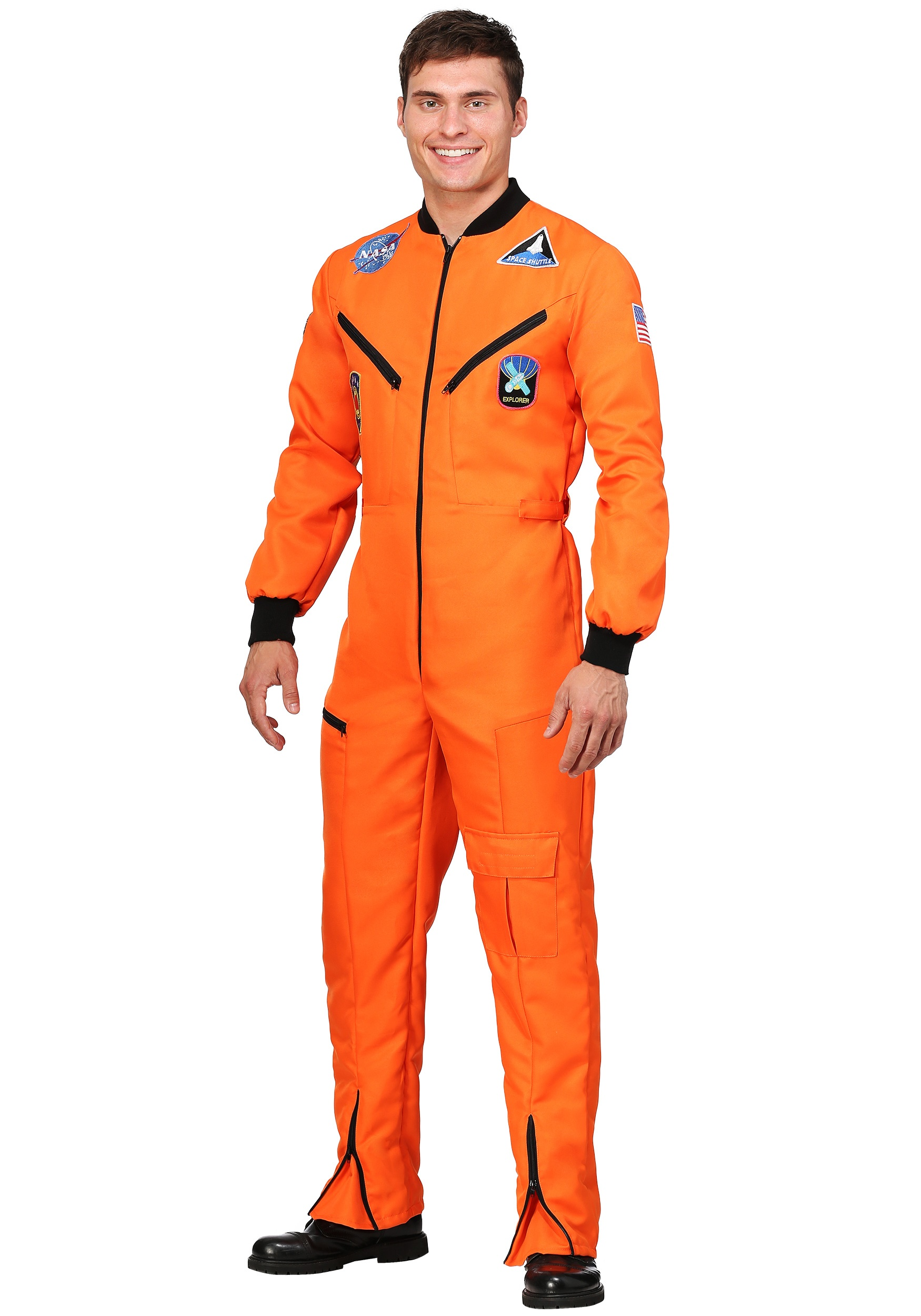 Orange Astronaut Jumpsuit Adult Costume | Space Explorer Costume