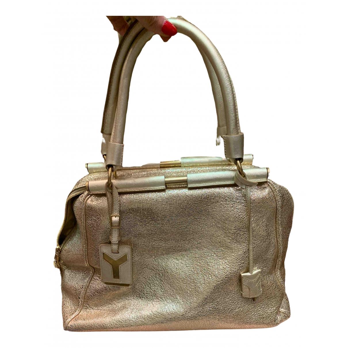 Yves Saint Laurent N Gold Leather handbag for Women N