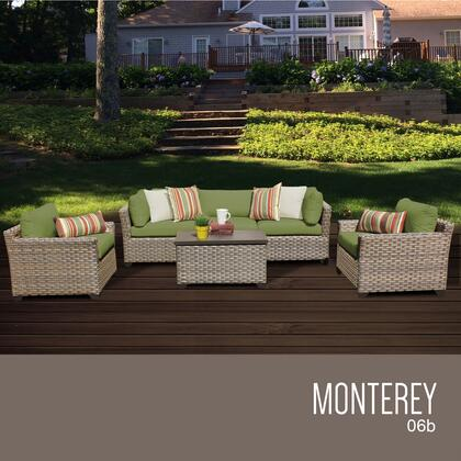 MONTEREY-06b-CILANTRO Monterey 6 Piece Outdoor Wicker Patio Furniture Set 06b with 2 Covers: Beige and