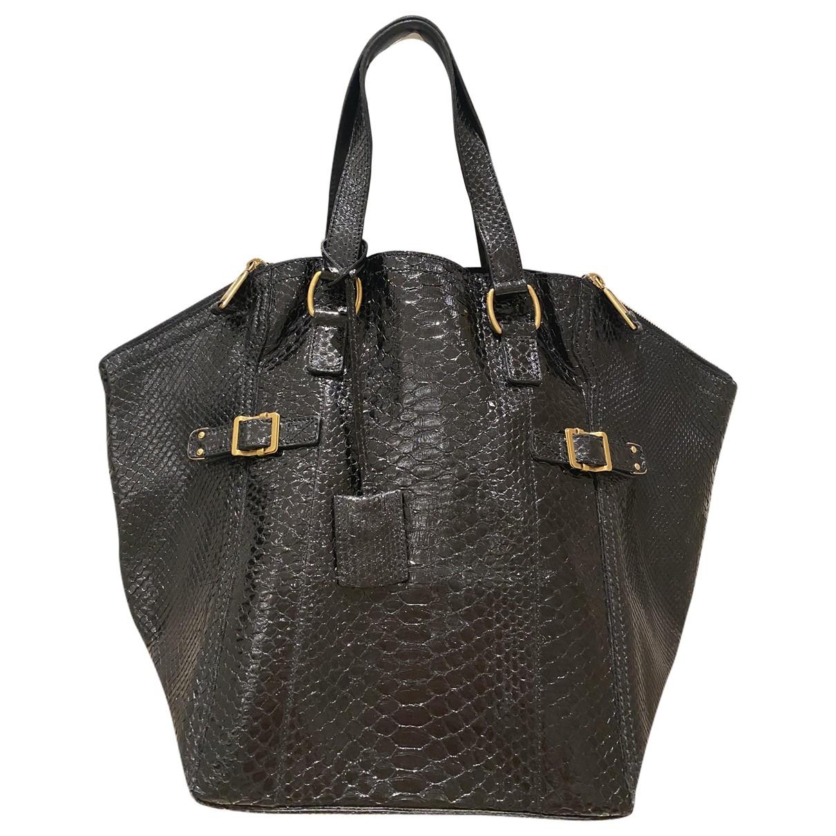 Yves Saint Laurent \N Handtasche in  Schwarz Python