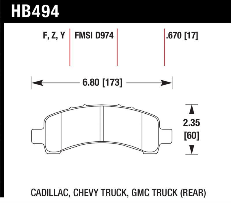 Hawk Performance HB494Z.670 Disc Brake Pad Rear