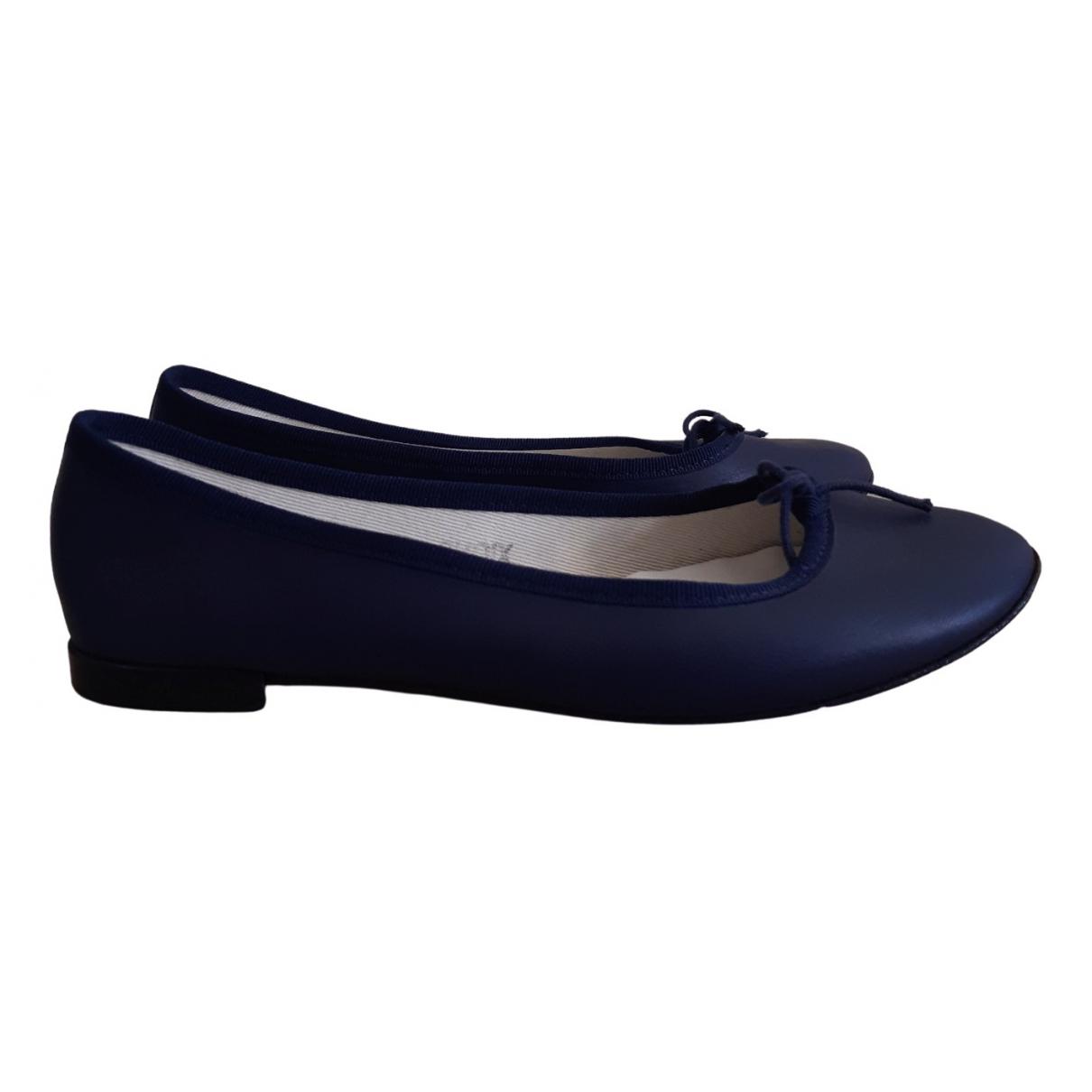 Repetto \N Ballerinas in  Blau Leder