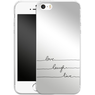 Apple iPhone 5s Silikon Handyhuelle - Love, Laugh, Live von Mareike Bohmer