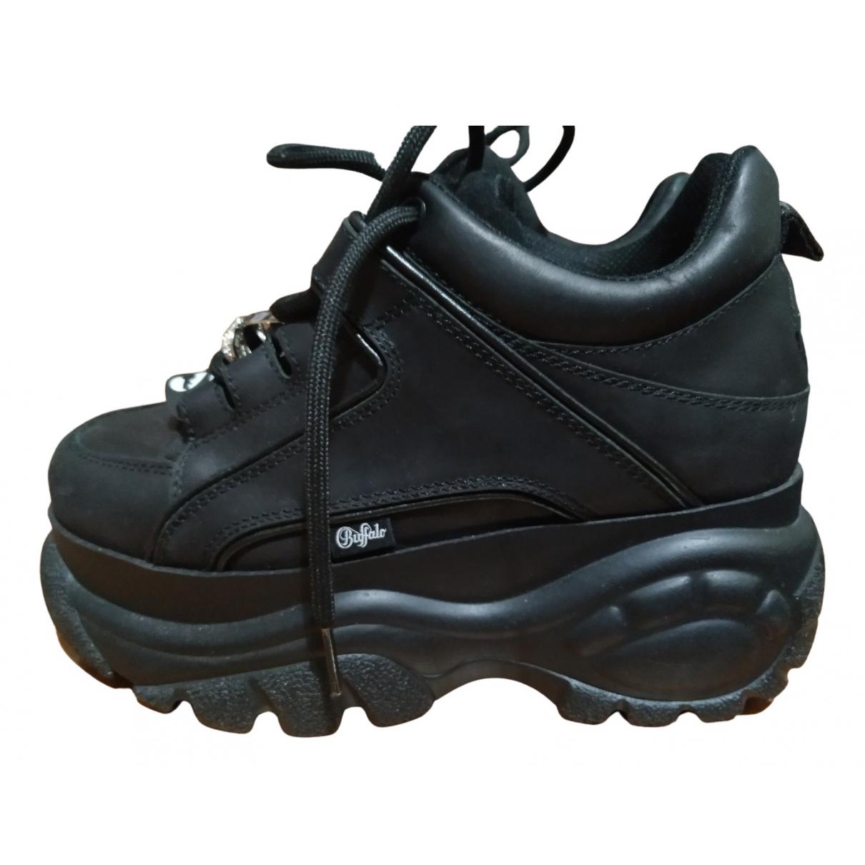 Buffalo \N Sneakers in  Schwarz Leder