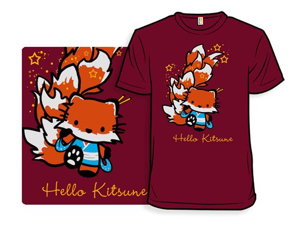 Hello Kitsune T Shirt