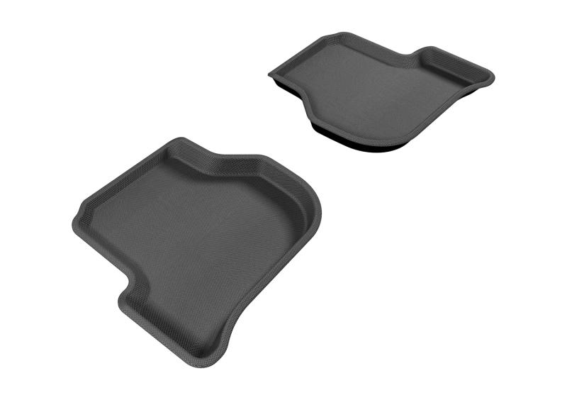 3D MAXpider 2005-2010 Volkswagen Jetta/Golf Kagu 2nd Row Floormats - Gray
