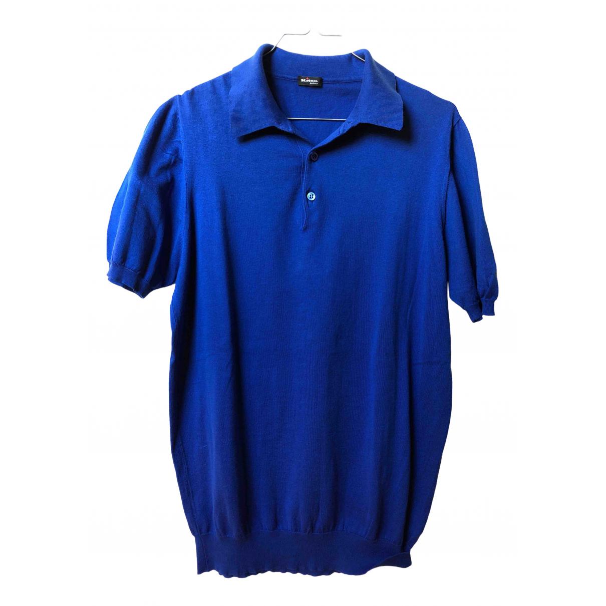 Polo en Algodon Azul Kiton