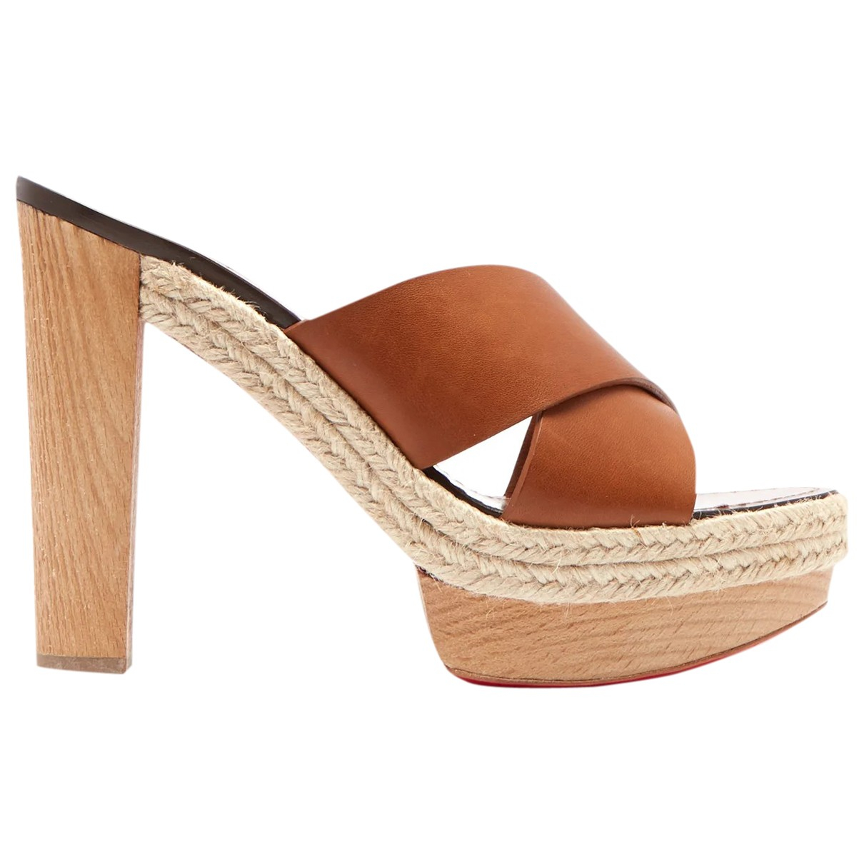 Christian Louboutin \N Brown Leather Sandals for Women 41 EU