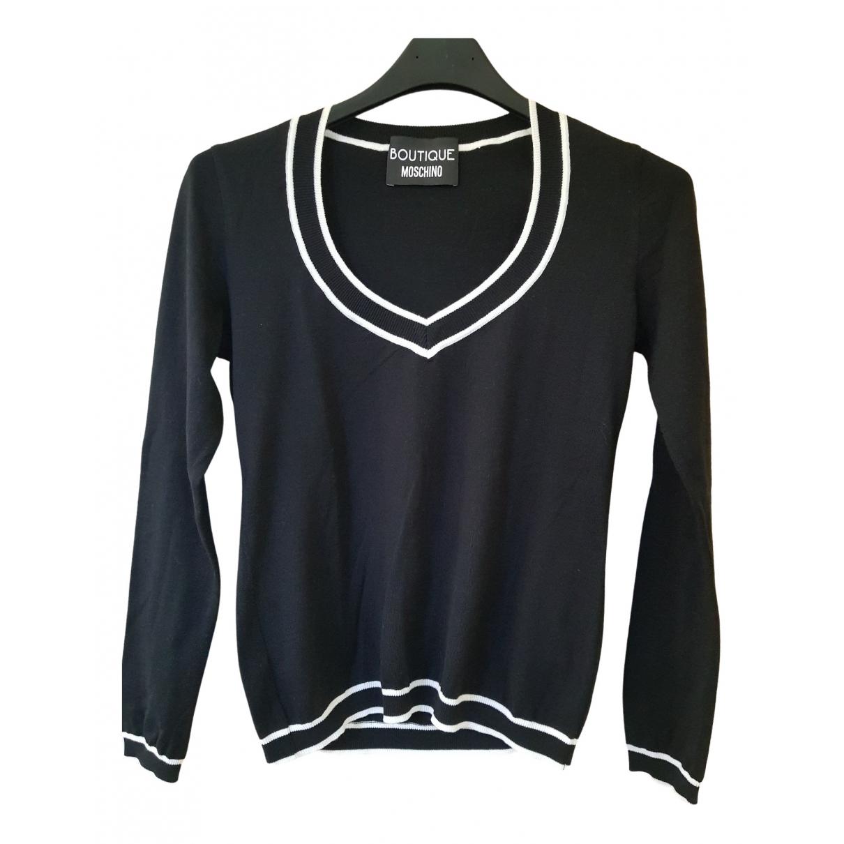 Moschino \N Top in  Schwarz Wolle