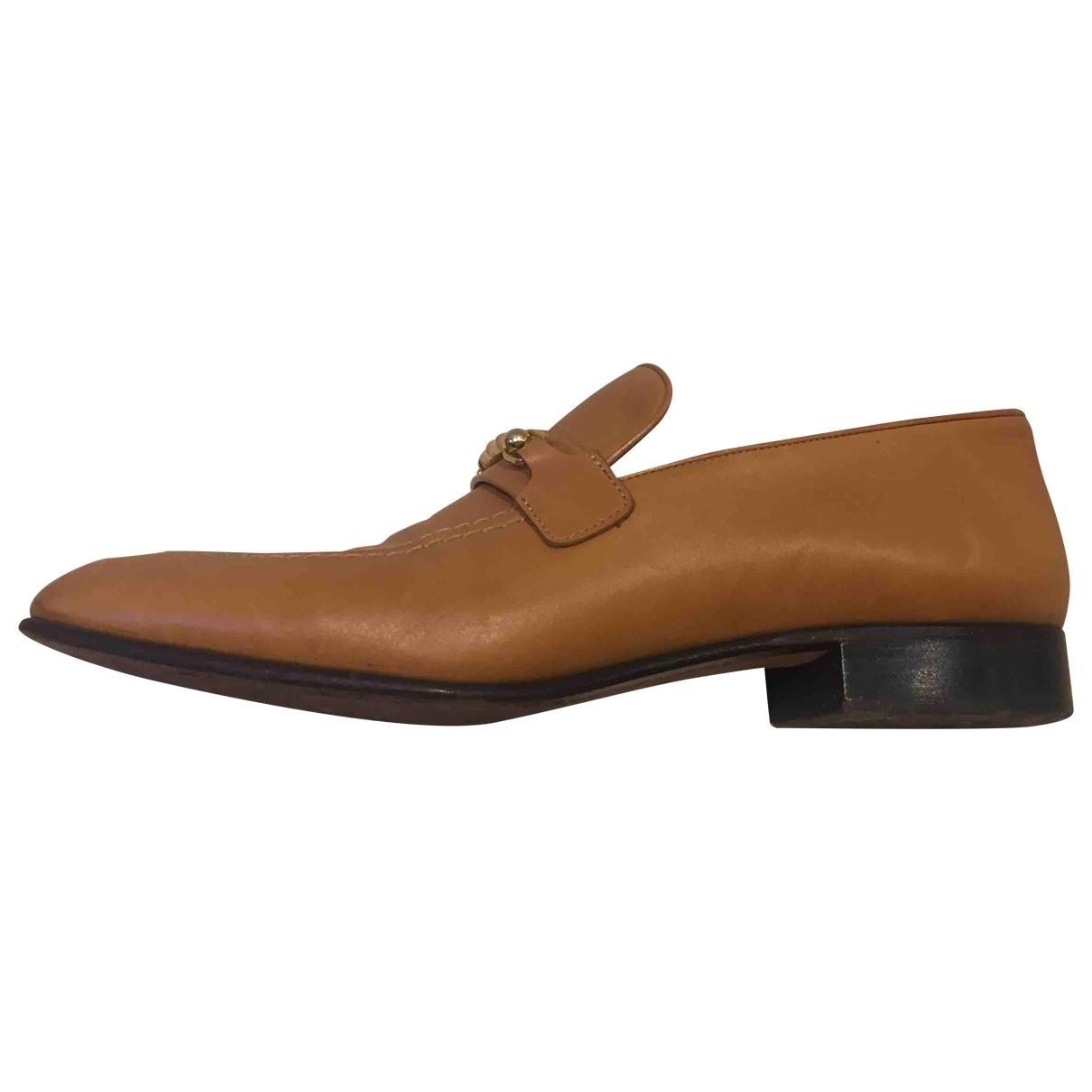 Joseph \N Camel Leather Flats for Women 41 EU