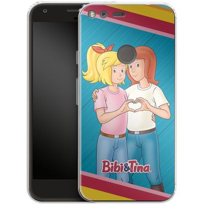Google Pixel XL Silikon Handyhuelle - Bibi und Tina Regenbogen von Bibi & Tina