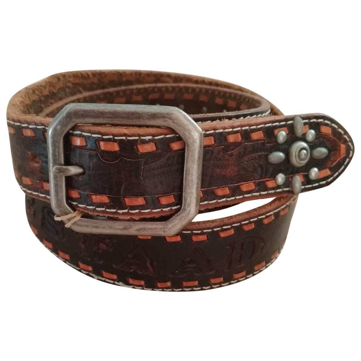Scotch & Soda \N Brown Leather belt for Women 85 cm