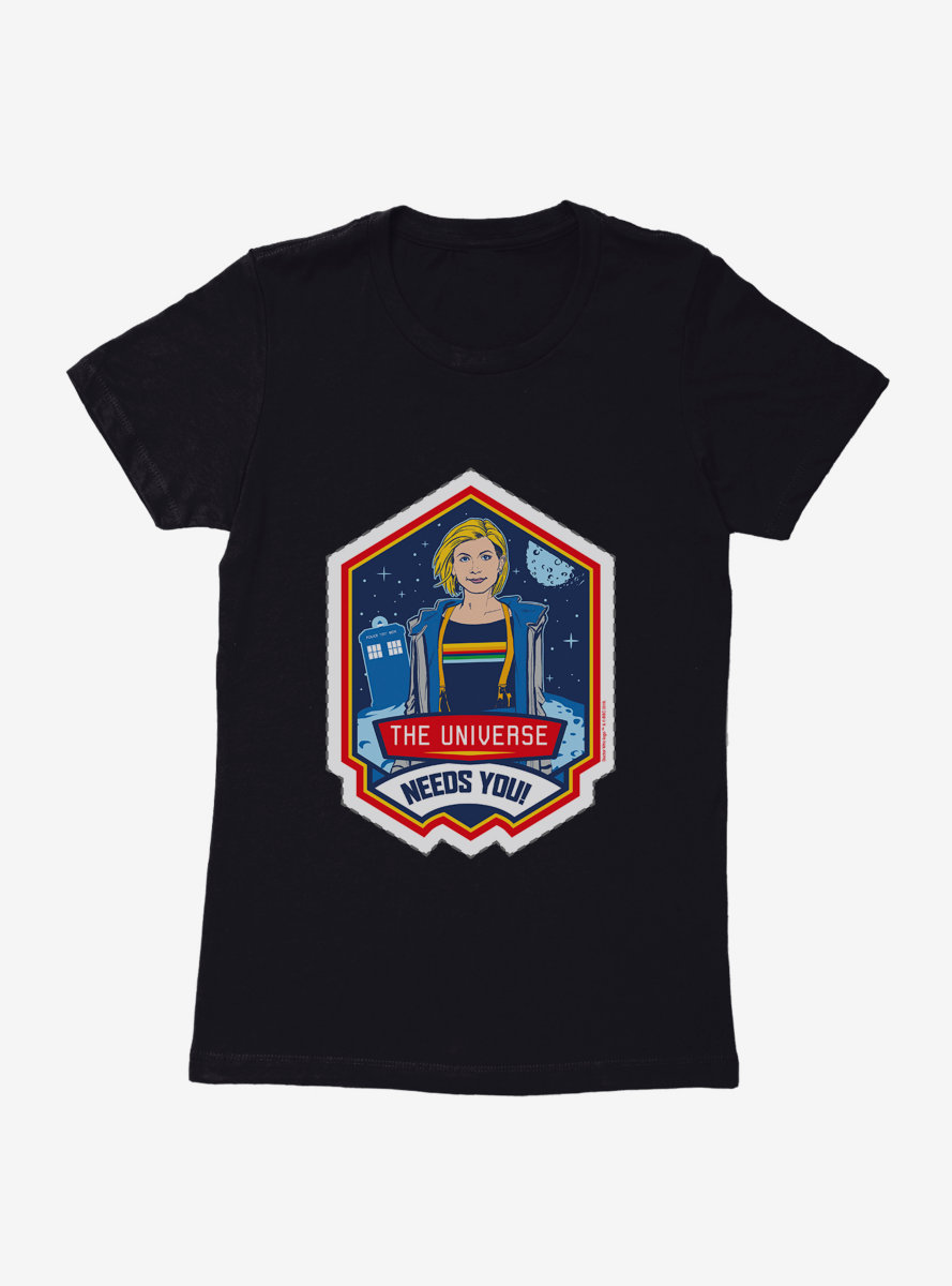 Doctor Who Thirteenth Doctor Universe Needs You Badge Womens T-Shirt