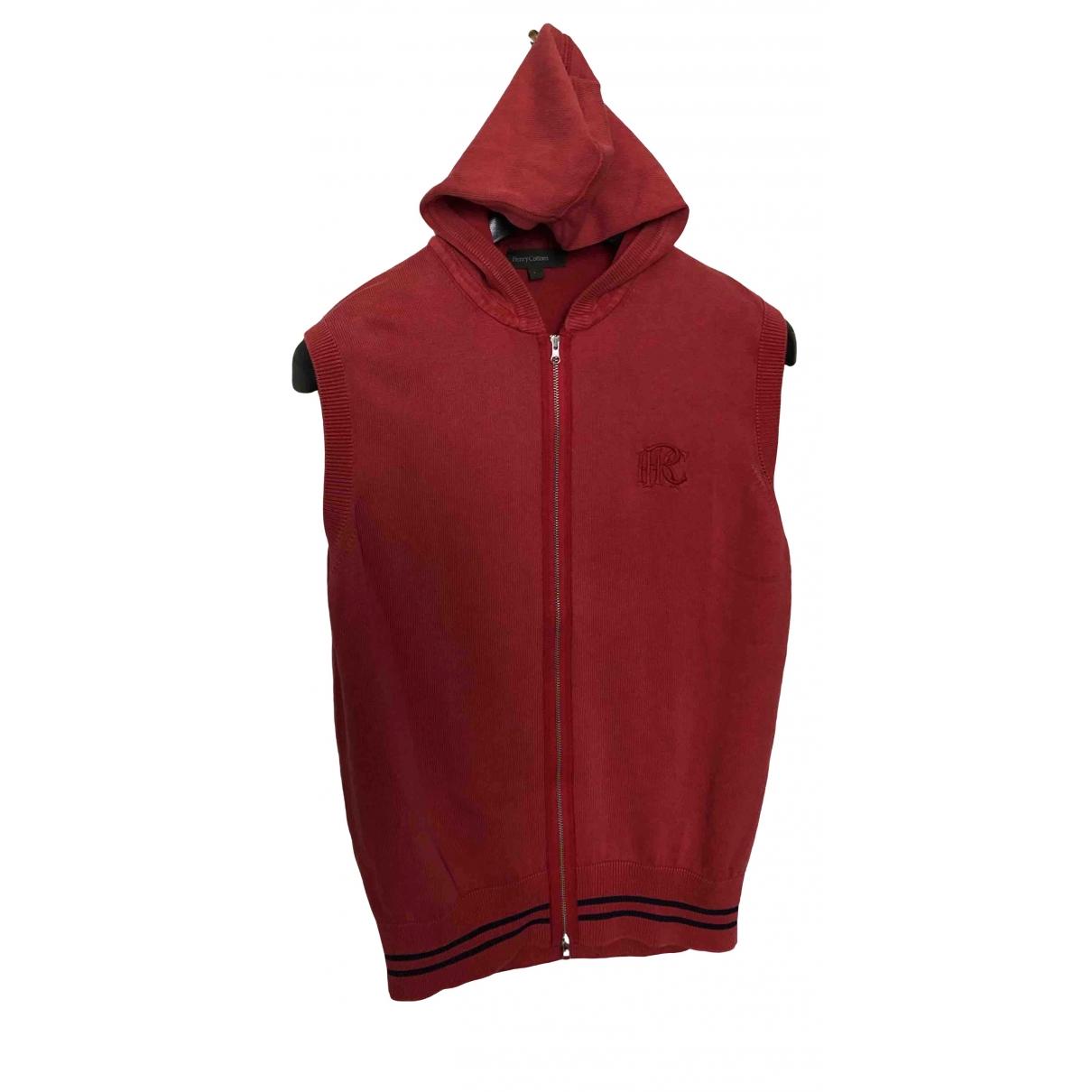 Henry Cotton \N Pullover.Westen.Sweatshirts  in  Rot Baumwolle
