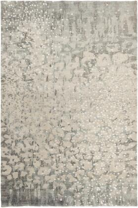 Watercolor WAT-5011 5' x 8' Rectangle Modern Rugs in Charcoal  Light Gray