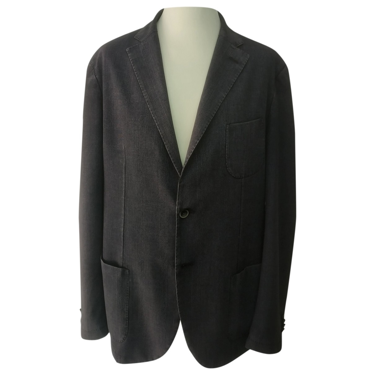 Non Signé / Unsigned \N Purple Wool jacket  for Men 56 IT