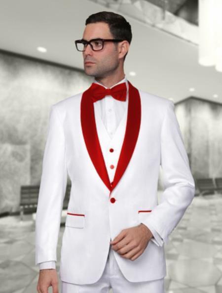 Mens Cheap Fashion big and tall Plus Size Blazer For Guys White
