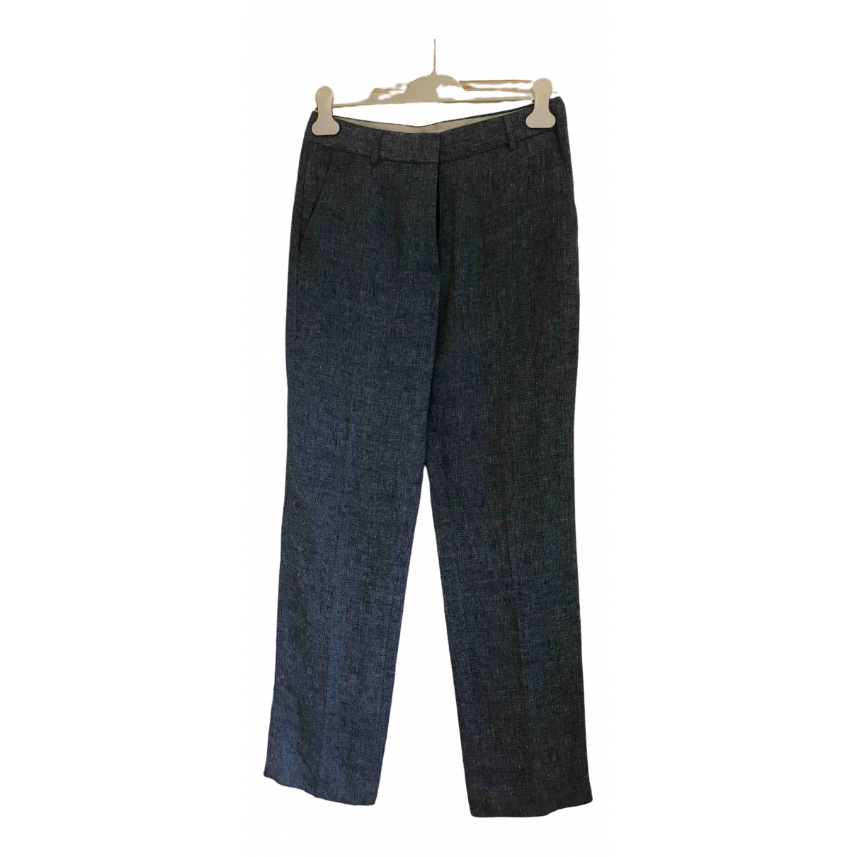 Gerard Darel \N Blue Linen Trousers for Women 40 FR