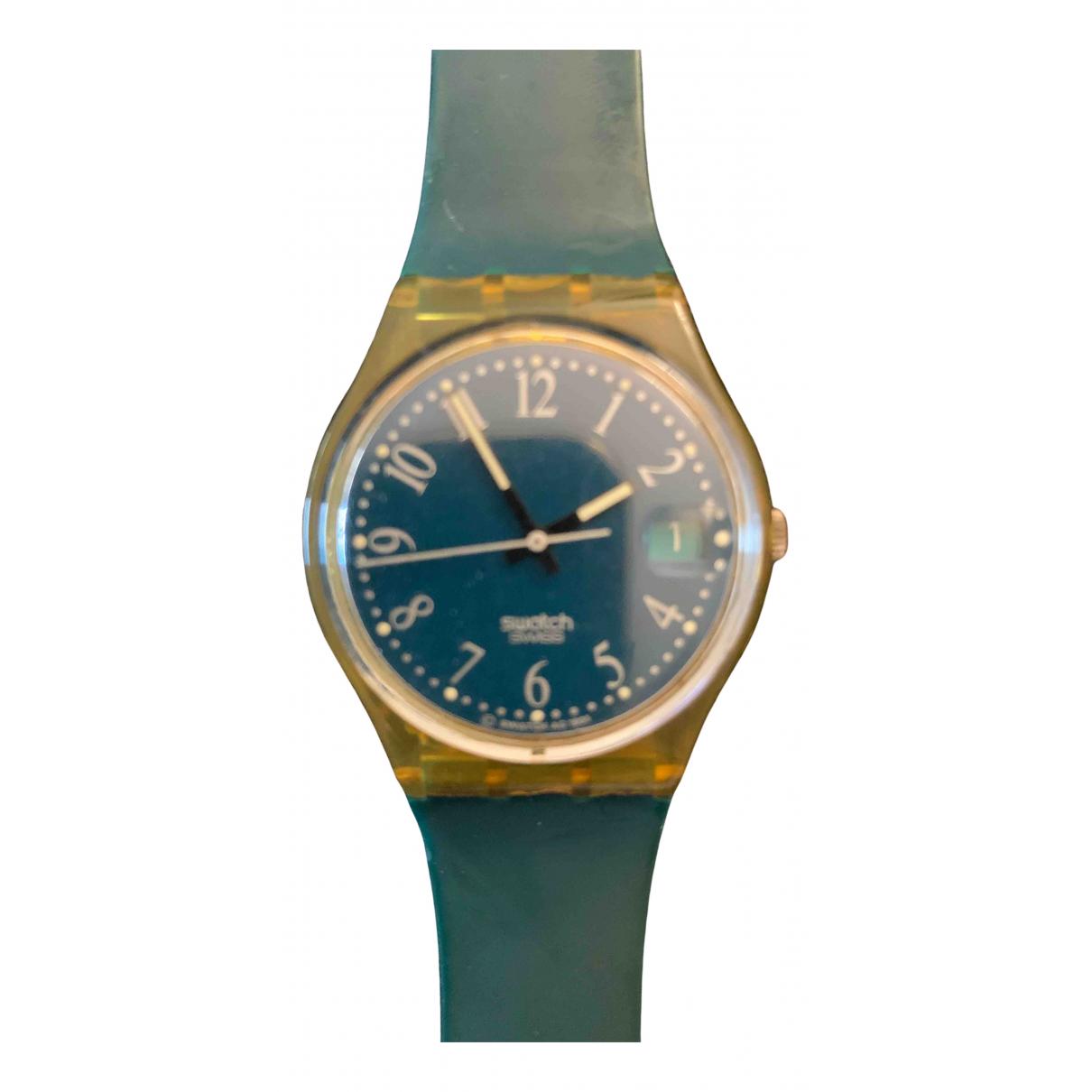 Swatch - Montre   pour femme en autre - vert