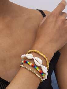 4pcs Shell Beaded Bracelet