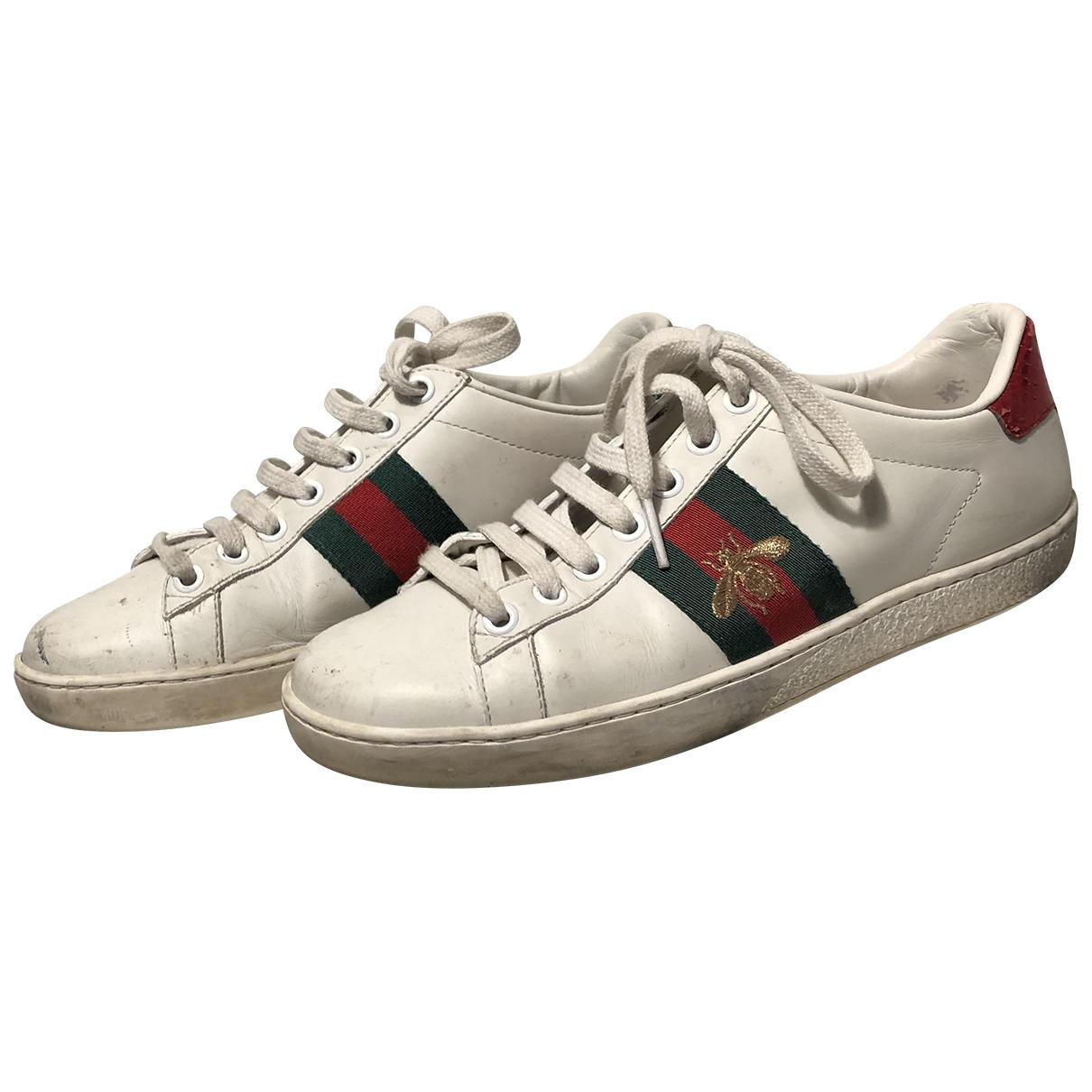 Gucci - Baskets Ace pour femme en cuir verni - blanc