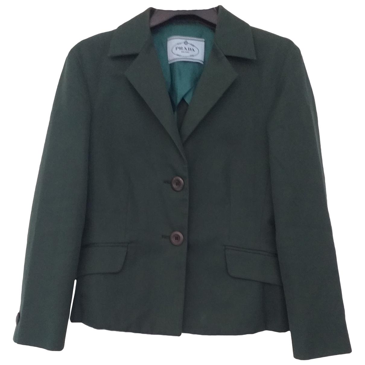 Prada \N Green Cotton jacket for Women 42 IT