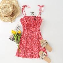 Ditsy Floral Tie Shoulder Cami Dress