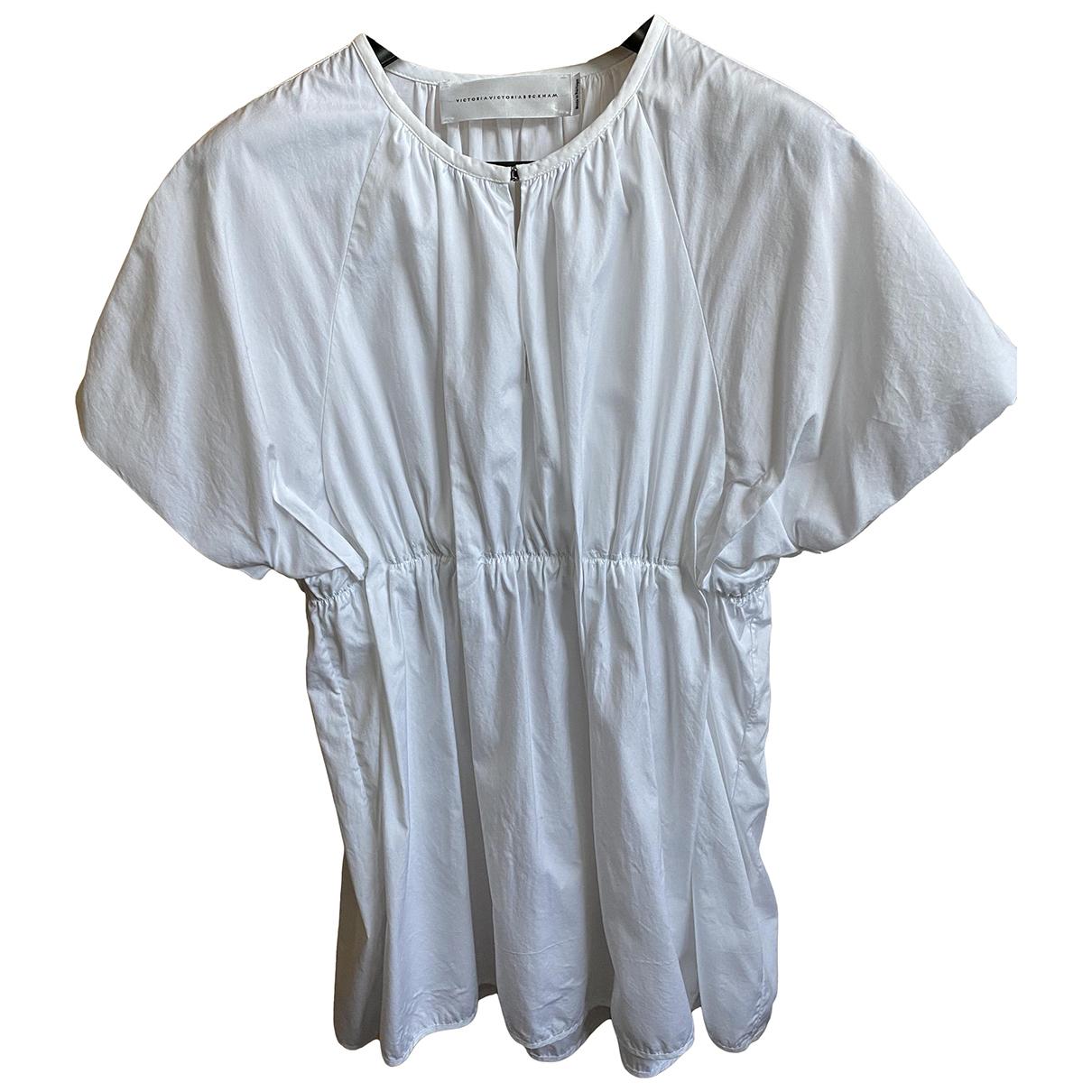Victoria, Victoria Beckham - Top   pour femme en coton - blanc