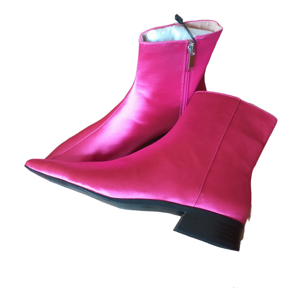 Zara - Bottes   pour femme en toile - rose