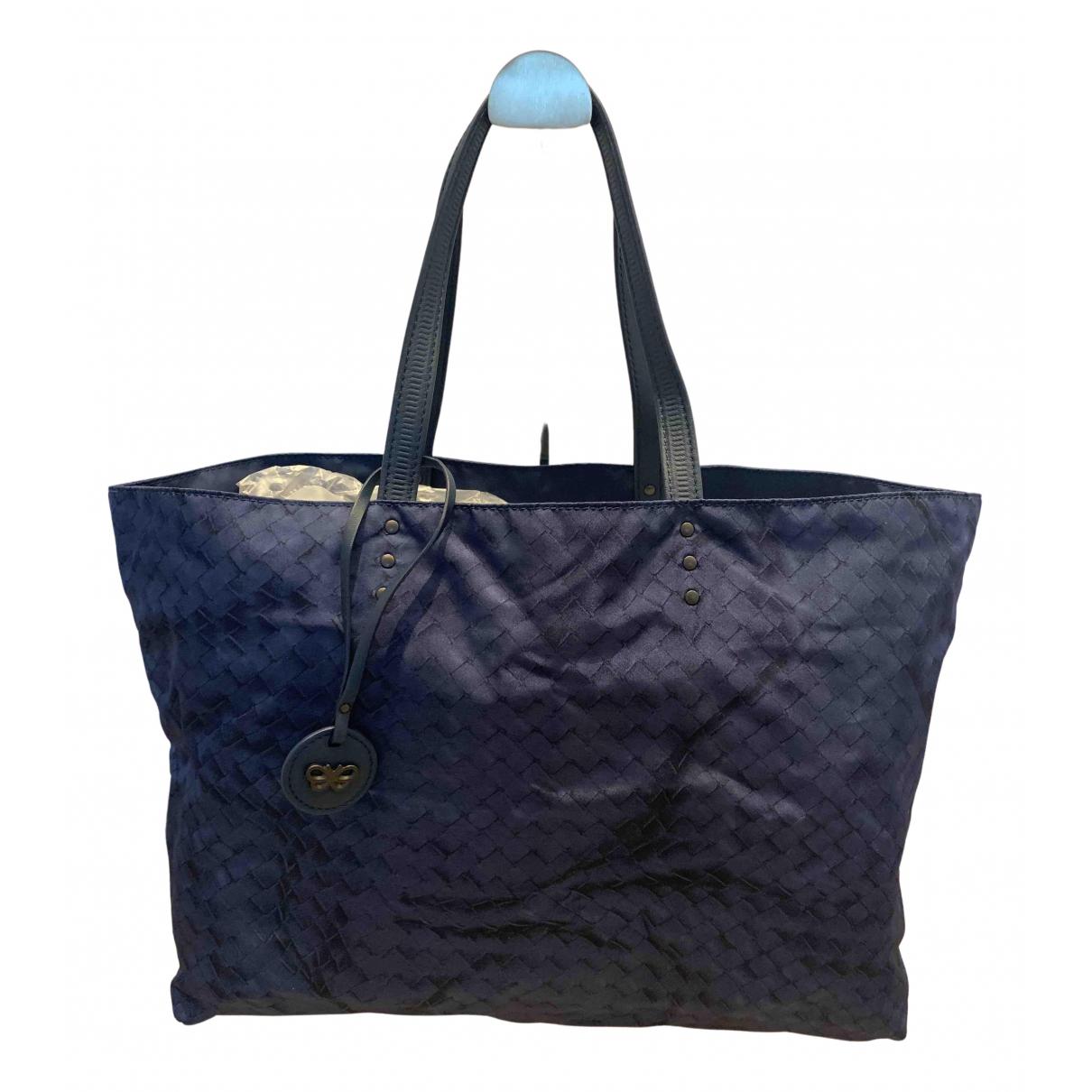 Bottega Veneta \N Handtasche in  Blau Leinen