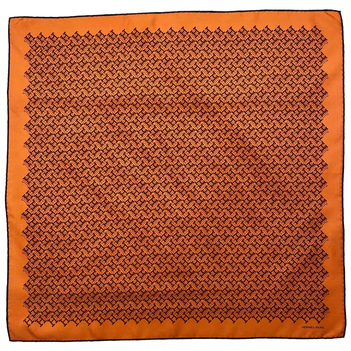 Hermès Carré H 65 Orange Silk scarf & pocket squares for Men \N