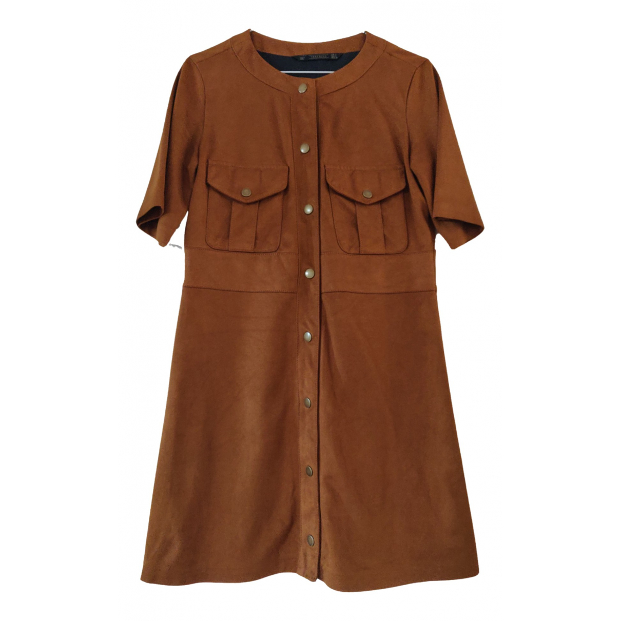 Zara \N Kleid in  Kamel Polyester
