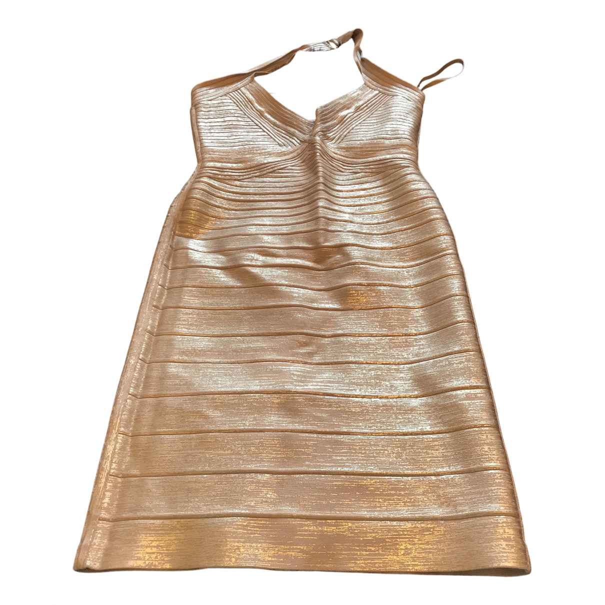 Herve Leger \N Kleid in  Rosa Polyester