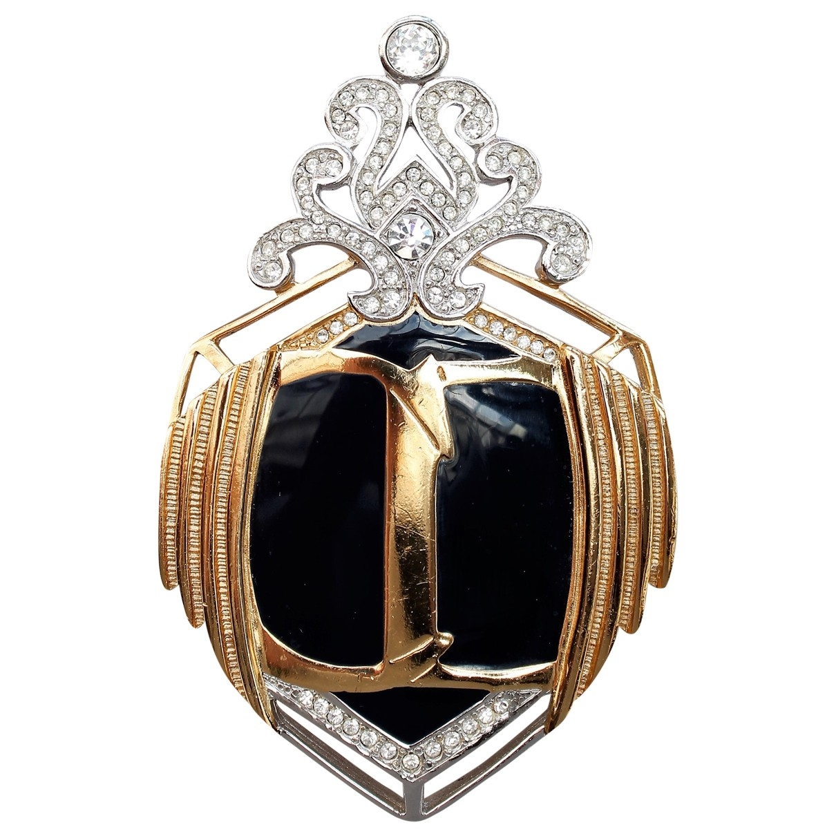 Dior \N Black Metal Pins & brooches for Women \N