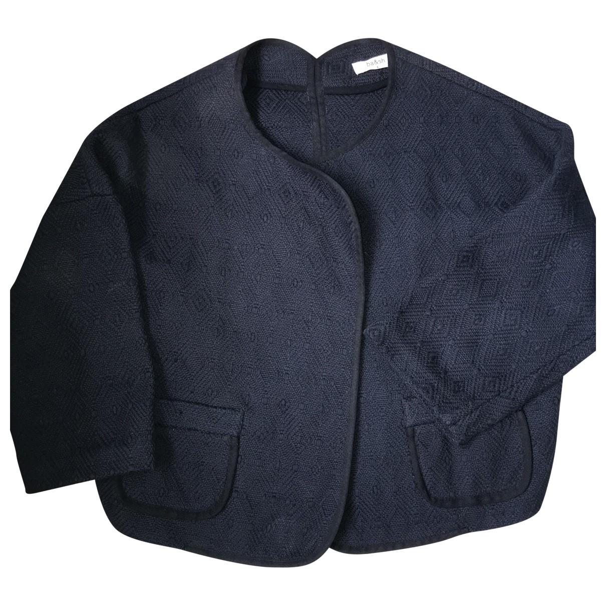 Ba&sh \N Blue Cotton jacket for Women 38 FR