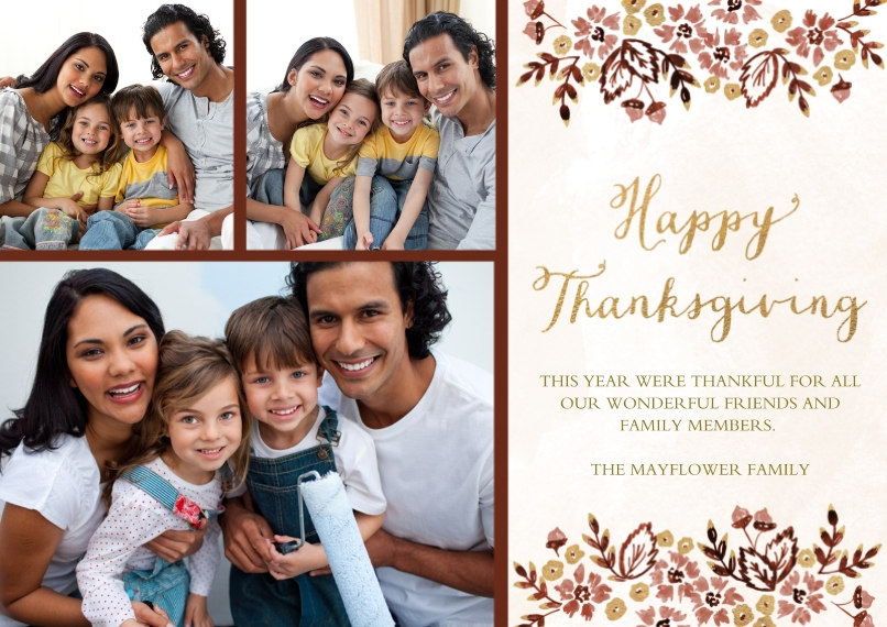 Thanksgiving Photo Cards 5x7 Cards, Premium Cardstock 120lb with Rounded Corners, Card & Stationery -Golden Hour