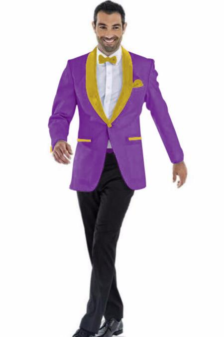 Mens Blazer Dark Purple ~ Gold