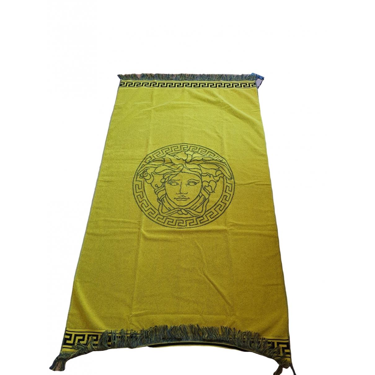 Versace - Linge de maison   pour lifestyle en coton - jaune