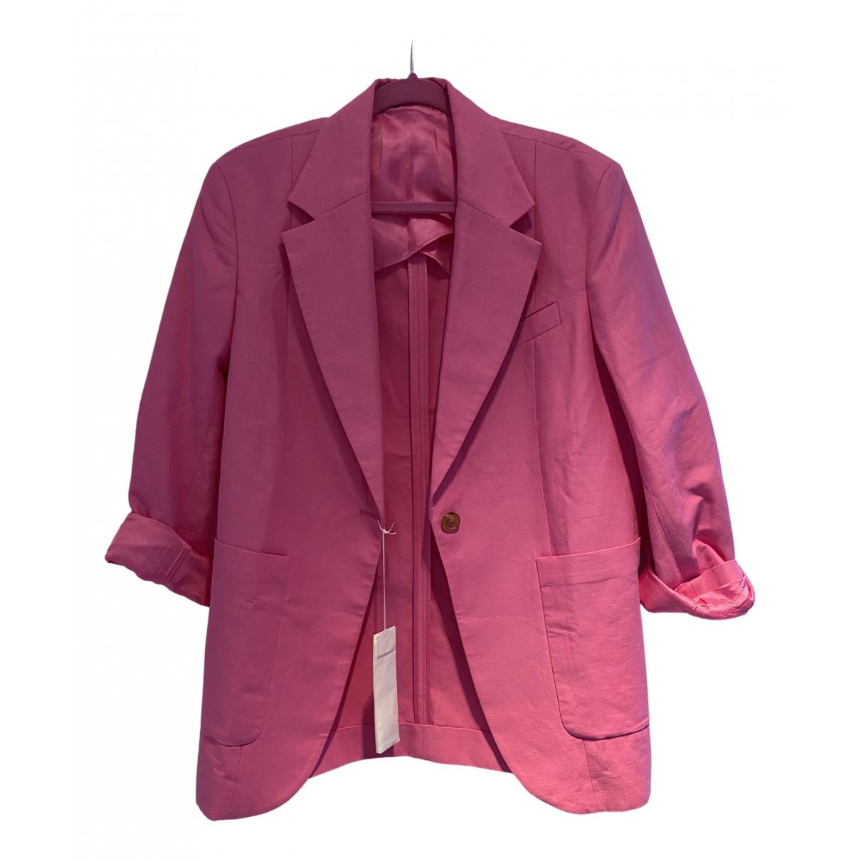 Arket - Veste   pour femme en lin - rose