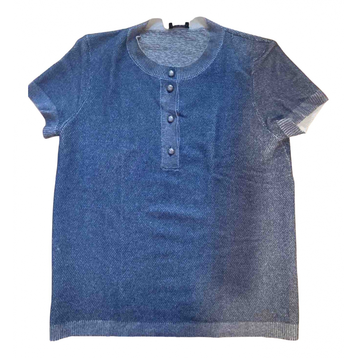 Chanel N Blue Cashmere  top for Women 38 FR