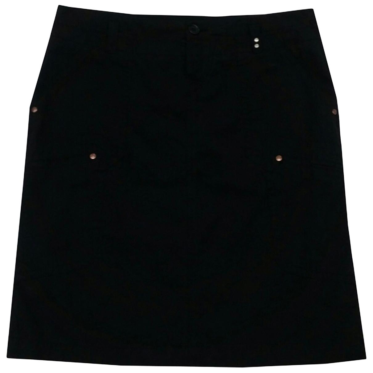 Gas \N Black Cotton skirt for Women L International