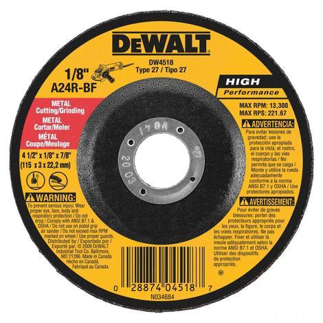 DeWalt 4-in x 1/8-in x 7/8-in Metal Wheel