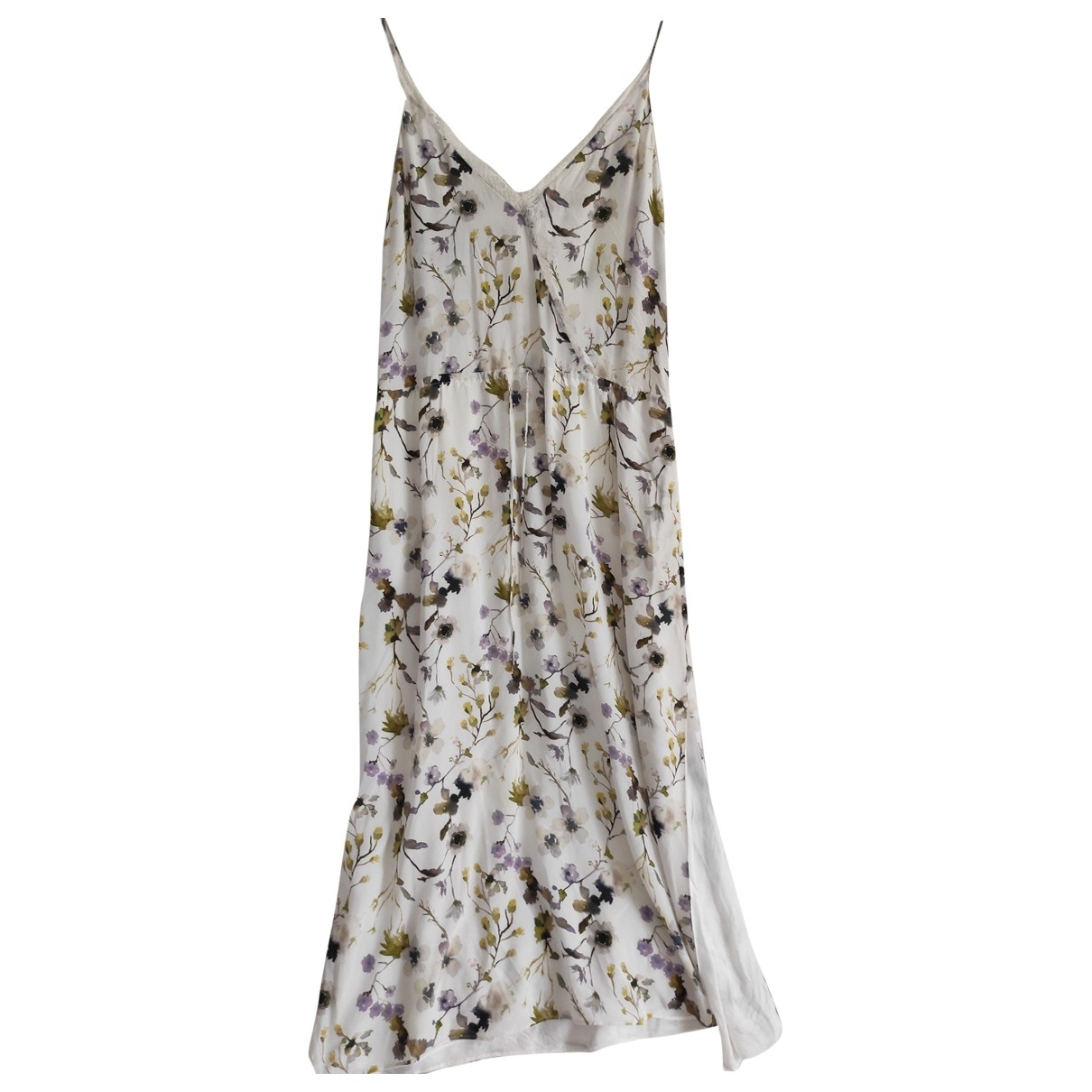 Massimo Dutti - Robe   pour femme en soie - blanc